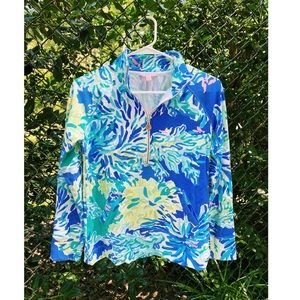 Lilly Pulitzer Wade and Sea Floral Half Zip
